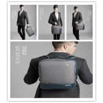 4 in 1 Anti thief Waterproof Men backpack handbag shoulder bag password suitcase