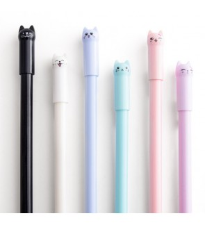 <Ready stock> 0.5mm Cute Cat Ball Pen High quality Korea best for writing