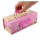 Ready Stock creative Cute Pencil box Hang carry multi layer password open gift