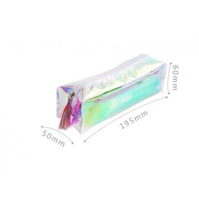 (Ready Stock) Colorful translucent Pencil bag pencil box Pencil storage Cutie